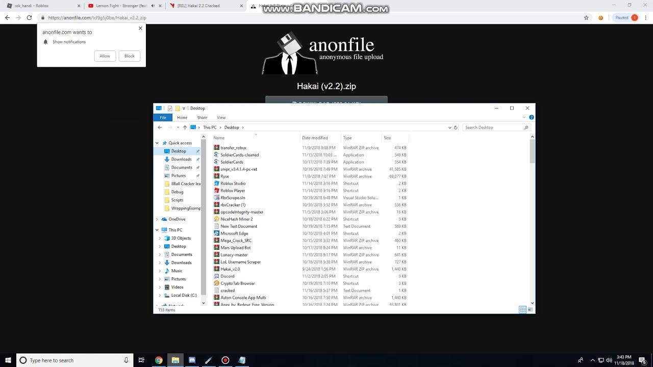 Tutorial Roblox Account Cracker Hakai V2 2 Cracked Youtube
