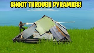 NEW OP PYRAMID BUG! SHOOT STRAIGHT THROUGH PYRAMIDS - FORTNITE BATTLE ROYAL HIGHLIGHTS #24