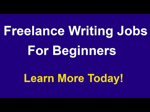 Freelance Writing Jobs For Beginners - Online Jobs For College Students