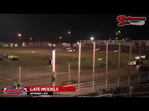 Performance Auto Late Model Highlights - River Cities Speedway - September 1, 2017