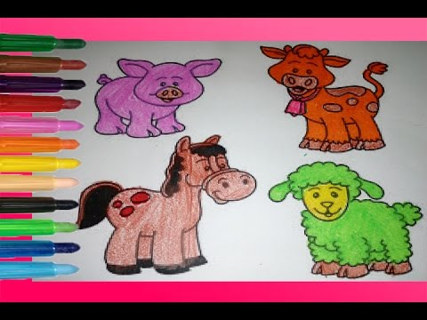Disney Animal Coloring Book : Coloring pages book for kids disney animal farm