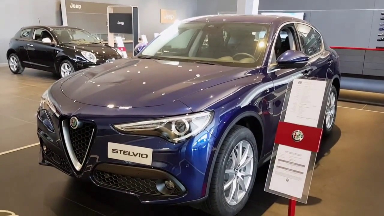 alfa romeo stelvio q4 blu montecarlo exterior and interior details walk around youtube. Black Bedroom Furniture Sets. Home Design Ideas