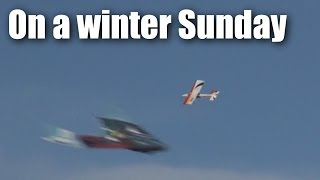 RC planes in Tokoroa on an New Zealand winter's day