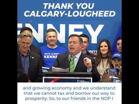 Jason Kenney's Calgary-Lougheed By-election Victory Speech