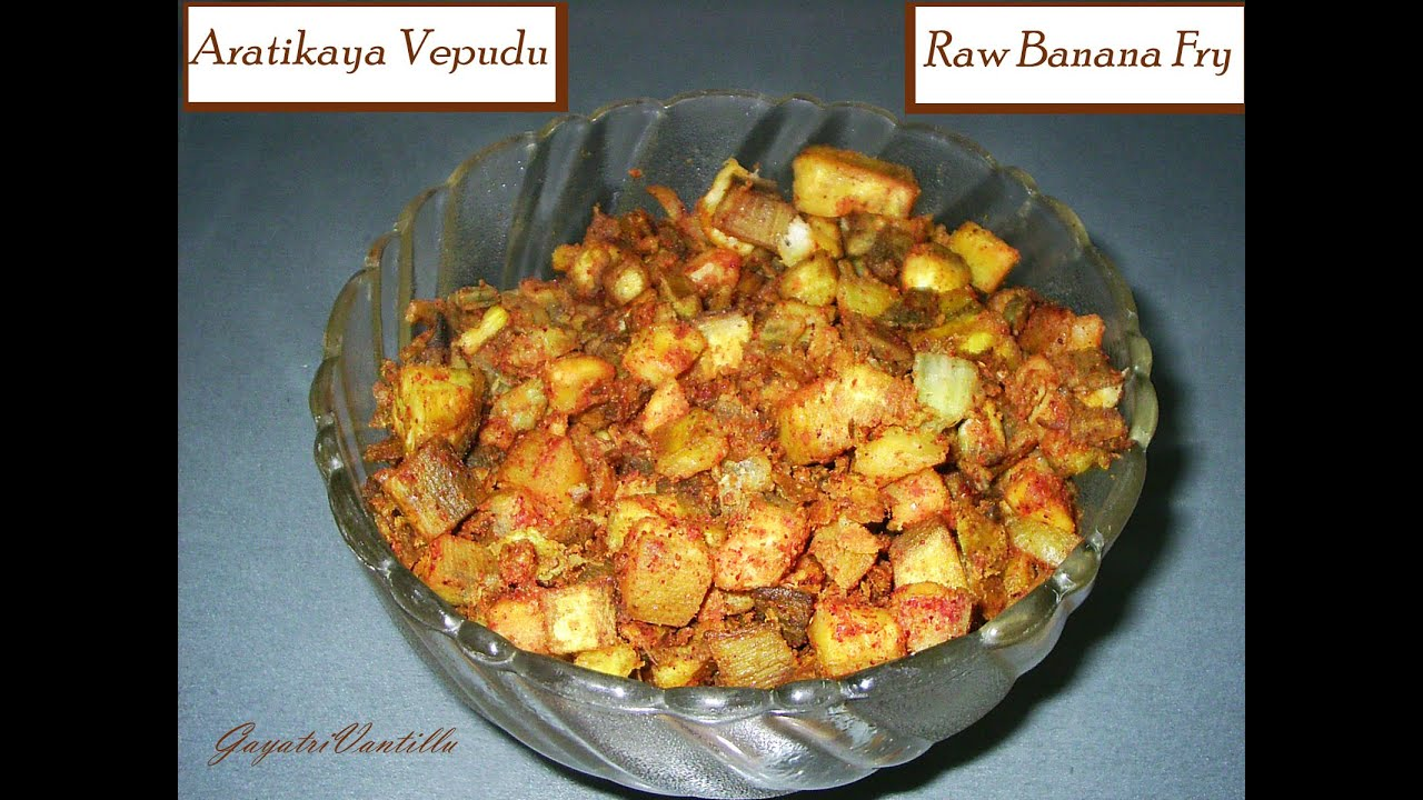 Aratikaya vepudu raw banana fry telugu cooking andhra recipes aratikaya vepudu raw banana fry telugu cooking andhra recipes telugu food youtube forumfinder Image collections