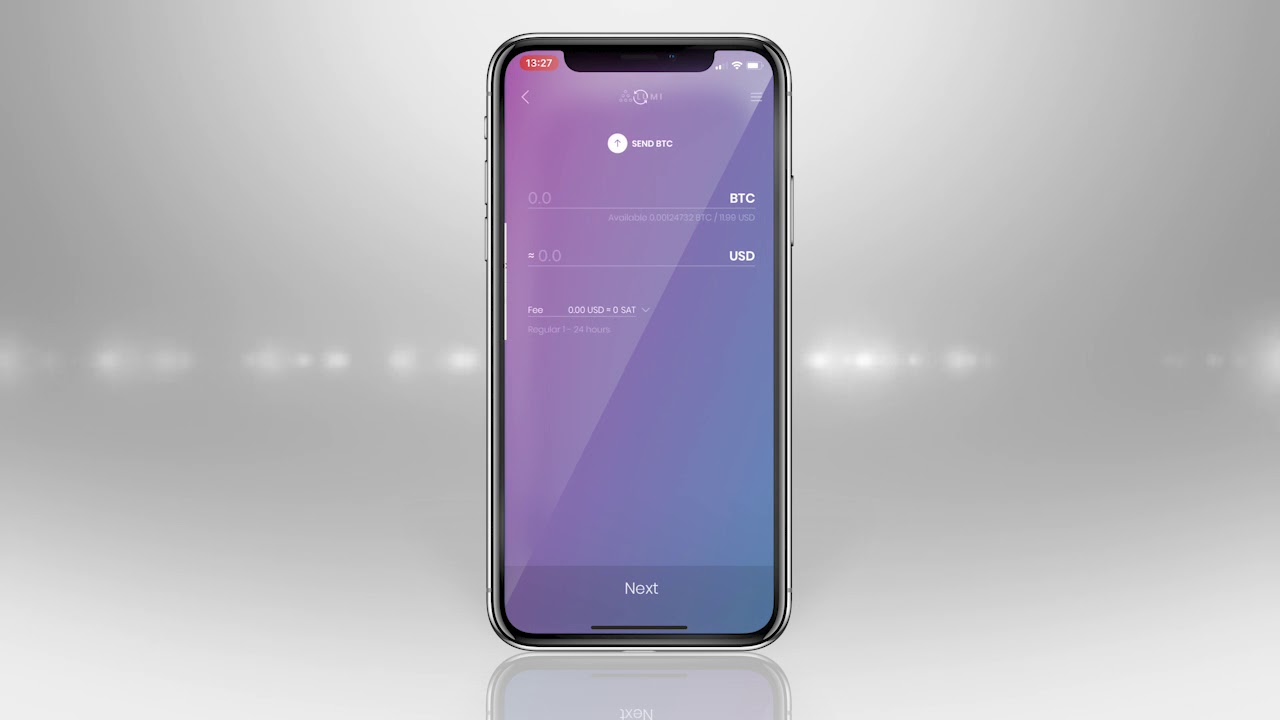 Lumi token wallet UI demo