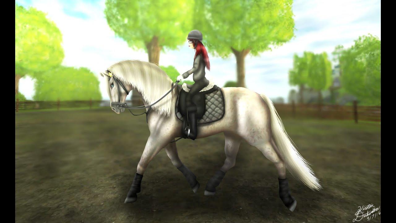 Girl Riding Horse Wallpaper Sso Training Cookie Speedpaint Youtube