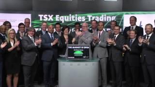 TSX Equities Trading opens Toronto Stock Exchange, June, 2015.