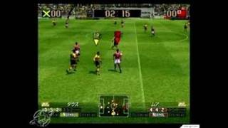 Virtua Striker 2002 GameCube Gameplay - Back and forth