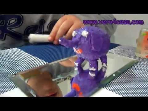 Manualidades como hacer un elefante con papel mach y - Como hacer espaguetis al pesto ...