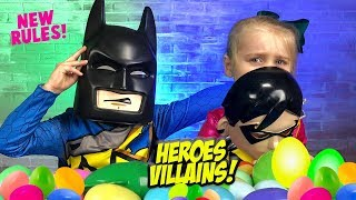 Heroes & Villains Surprise Toys Challenge! Lego Batman, PJ Masks & Avengers!