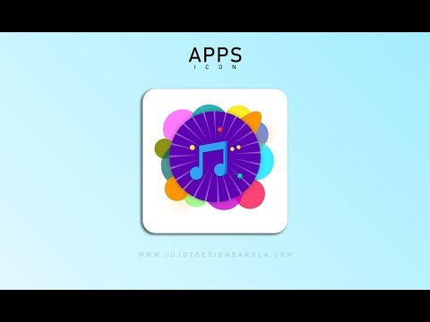 Music Apps icon | How to make Music apps icon in Photoshop
