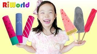 Ice cream VS flavor Cosmetic 리원아! 먹으면 안돼!  아이스크림 VS 화장품 ? 수박바 죠스바 스크류바