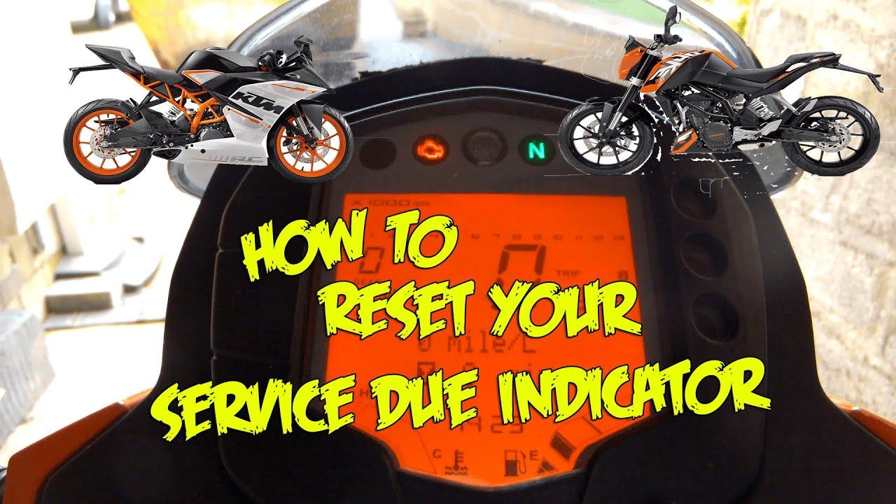 Ktm Duke Service Not Reset