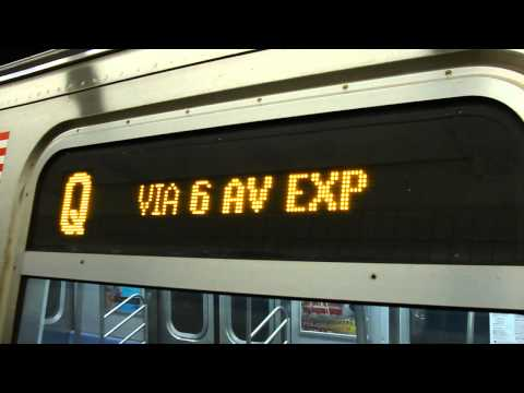IND 6th Avenue Express: 57th Street-6th Avenue bound R-160B Q express train @ Grand Street!