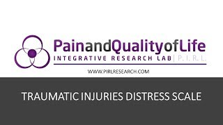 Explainer video for the Traumatic Injuries Distress Scale