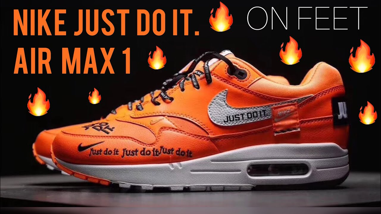 """4b9ce75615 Nike Air Max 1 """"Just Do It"""" : On Feet - YouTube"""