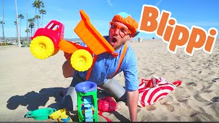 Blippi Learning Colors & Counting at The Beach   Educational Videos For Kids