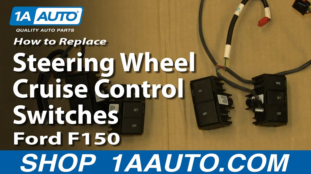 How To Install Replace Steering Wheel Cruise Control Switches 2004 2012 Ford F 150 Lariat Stereo Wiring Diagram 08 F150 Youtube