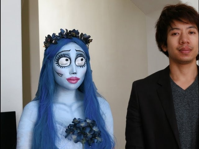 Emily (Corpse Bride) Halloween Make-up Look 1 Travel Video