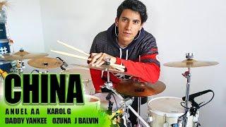 CHINA - Anuel AA, Karol G, Daddy Yankee, Ozuna, J Balvin | Alejandro Drum Cover *Batería*