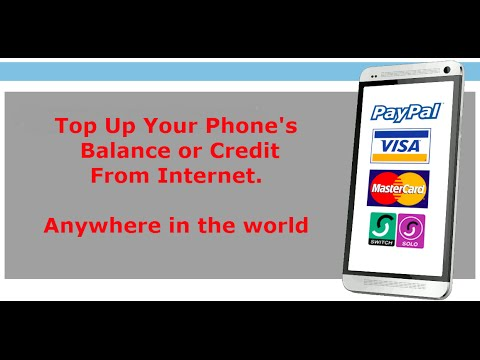 Recharge your mobile phone credit online