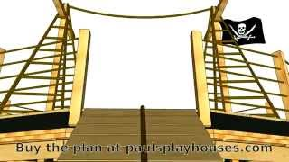 Lil' Pirate Ship Playhouse Plan Tour