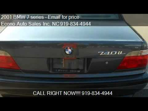 2001 bmw 7 series 740il for sale in raleigh nc 27604 youtube. Black Bedroom Furniture Sets. Home Design Ideas