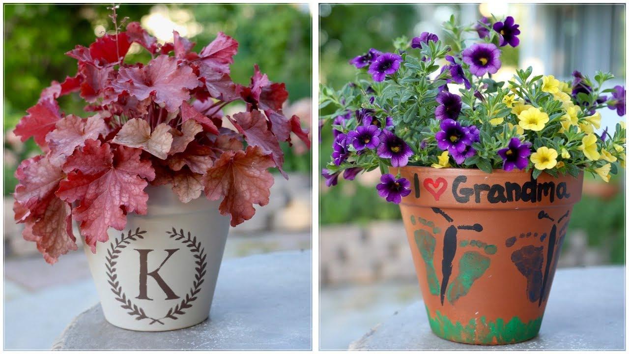 Mother S Day Container Garden Ideas: Mother's Day Planter Ideas 💜👣🦋🌸🌿 // Garden Answer