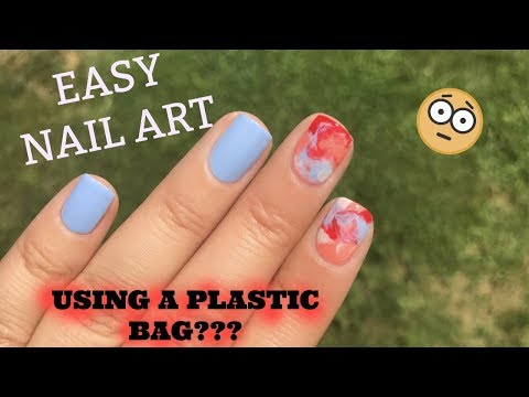 Plastic Bag Nails Easy Nail Art Tutorial