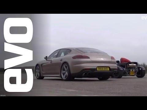 Ariel Atom Supercharged vs Porsche Panamera Turbo S | evo DRAG BATTLE