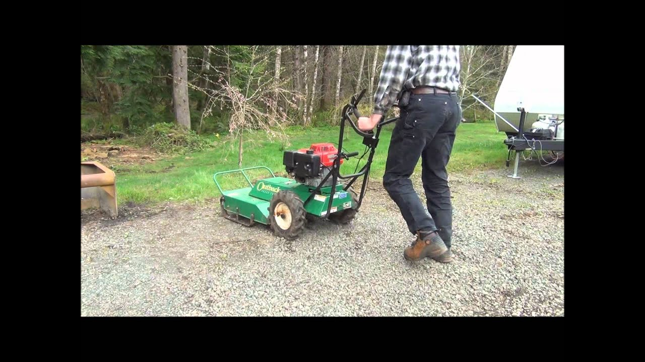 demonstrating my billy goat outback brush cutter youtube