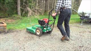 Demonstrating my Billy Goat Outback brush cutter
