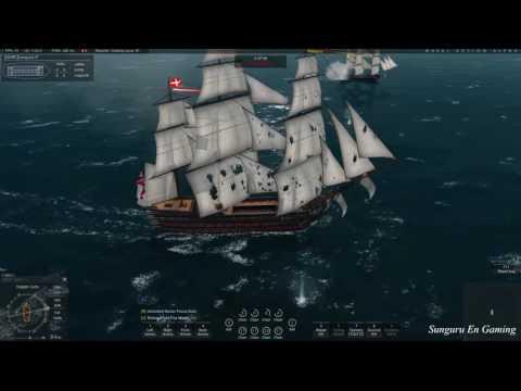 Naval Action ]  British One Santissima vs France 6 Ships | Jul 23, 2016