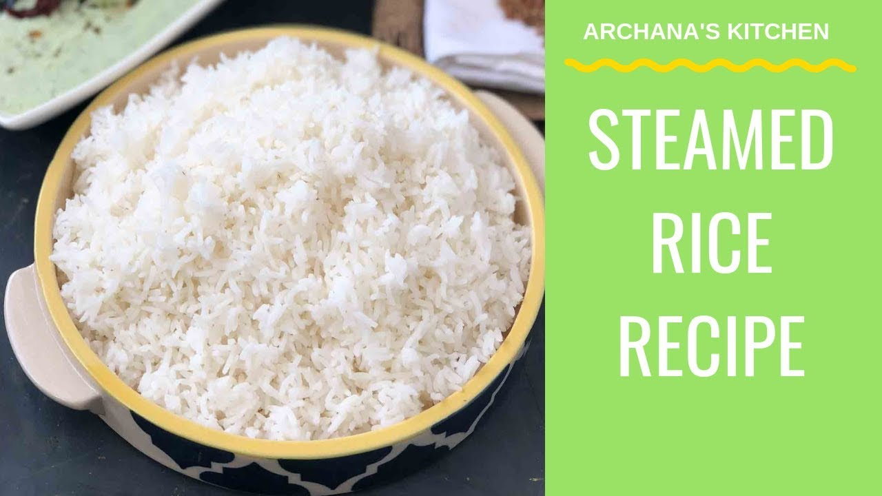 How To Cook Rice In Pressure Cooker Pressure Cooker Recipes By Archana S Kitchen Youtube