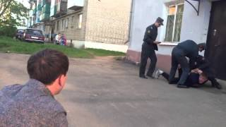 Задержание Мценской полиции неадекватного Амчанена