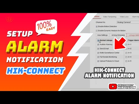 Hik-Connect | Alarm Notifications Configuration Full Step By Step