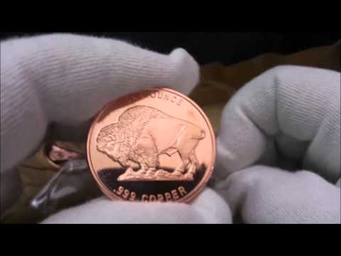 Buffalo Nickel 1 oz Copper Rounds Unboxing