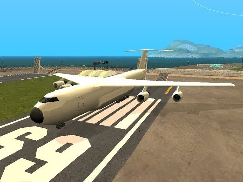 GTA San Andreas: Andromada cargo-plane fixed project full edition test video