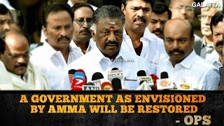 O. Panneerselvam: A Government As Envisioned By AMMA Will Be Restored