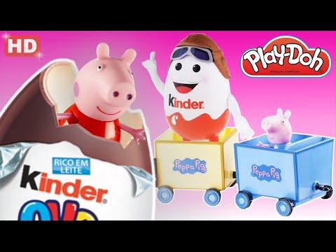 PEPPA PIG E PIG GEORGE EM O TREM CHEIO DE OVOS SURPRESAS DO VOVO PIG!!! EM PORTUGUES 6ª TEMPORADA HD