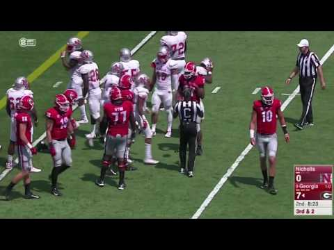 Georgia vs Nicholls 2016 Full Game 34:06