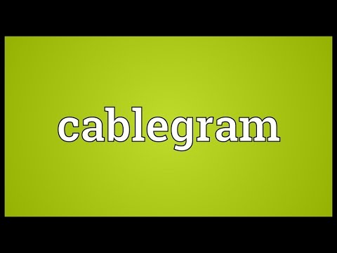 Cablegram Meaning