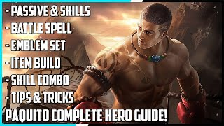 New Hero Paquito Complete Hero Guide! Best Build, Skill Combo, Tips & Tricks | Mobile Legends