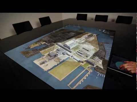 Design: High-tech conference table - YouTube