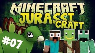 JurassiCraft #7 - FALLDOWN! - Minecraft Modplay
