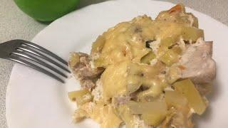рецепт мультиварка курица картофель Картофель с курицей и овощами в мультиварке