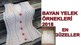En Güzel Örgü Bayan Yelek Modelleri 2018 (50 Tane Hepsi Farklı)
