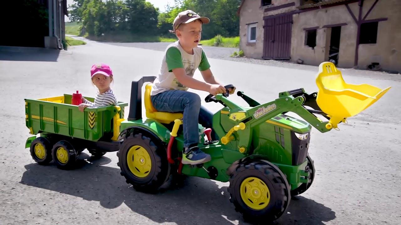 rolly x trac john deere 8400r traktor youtube. Black Bedroom Furniture Sets. Home Design Ideas