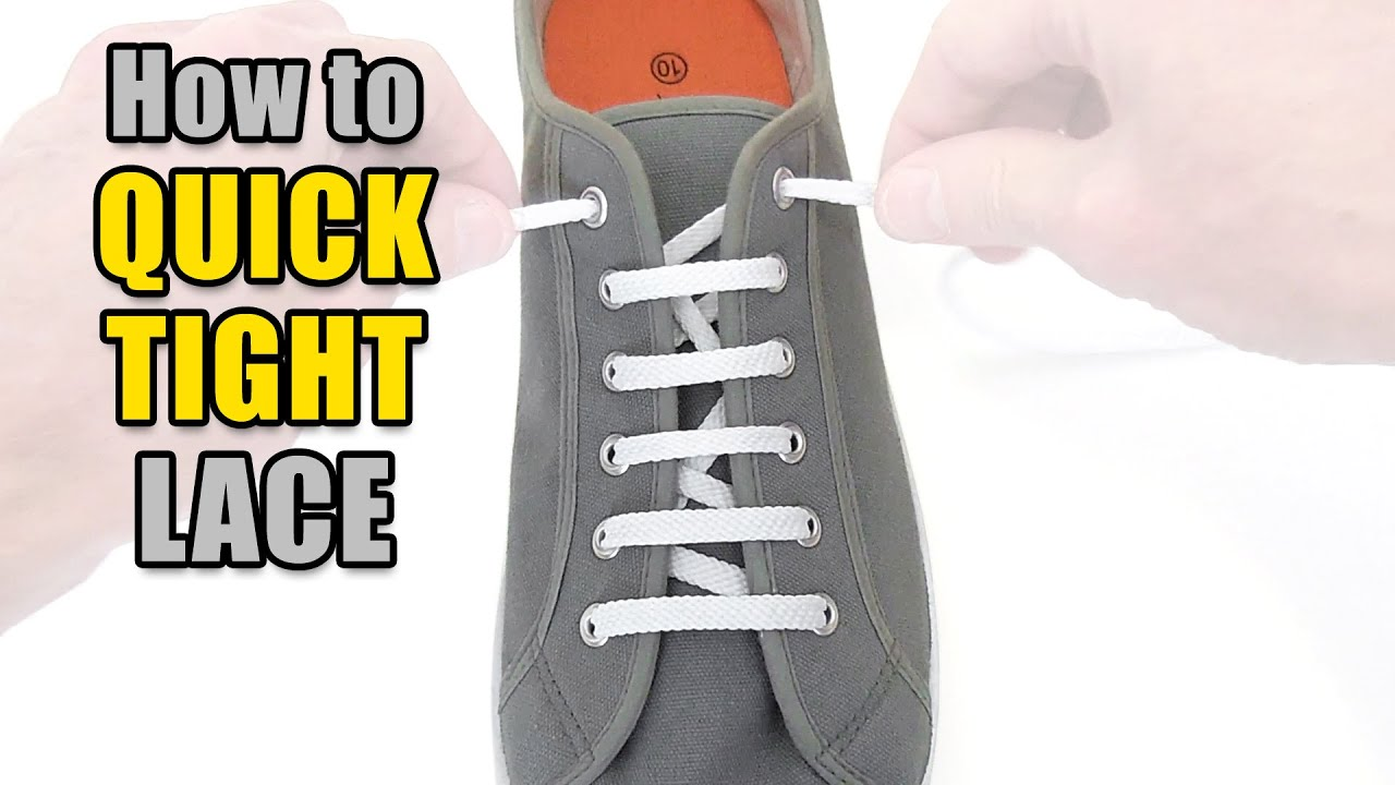 1ba73838d0c1 How to Quick Tight Lace your shoes - Professor Shoelace - YouTube